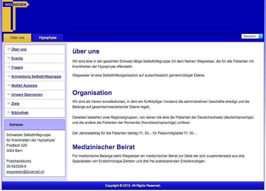 Wegweiser – Schweizer Selbsthilfegruppe für Krankheiten der Hypophyse und Nebennieren