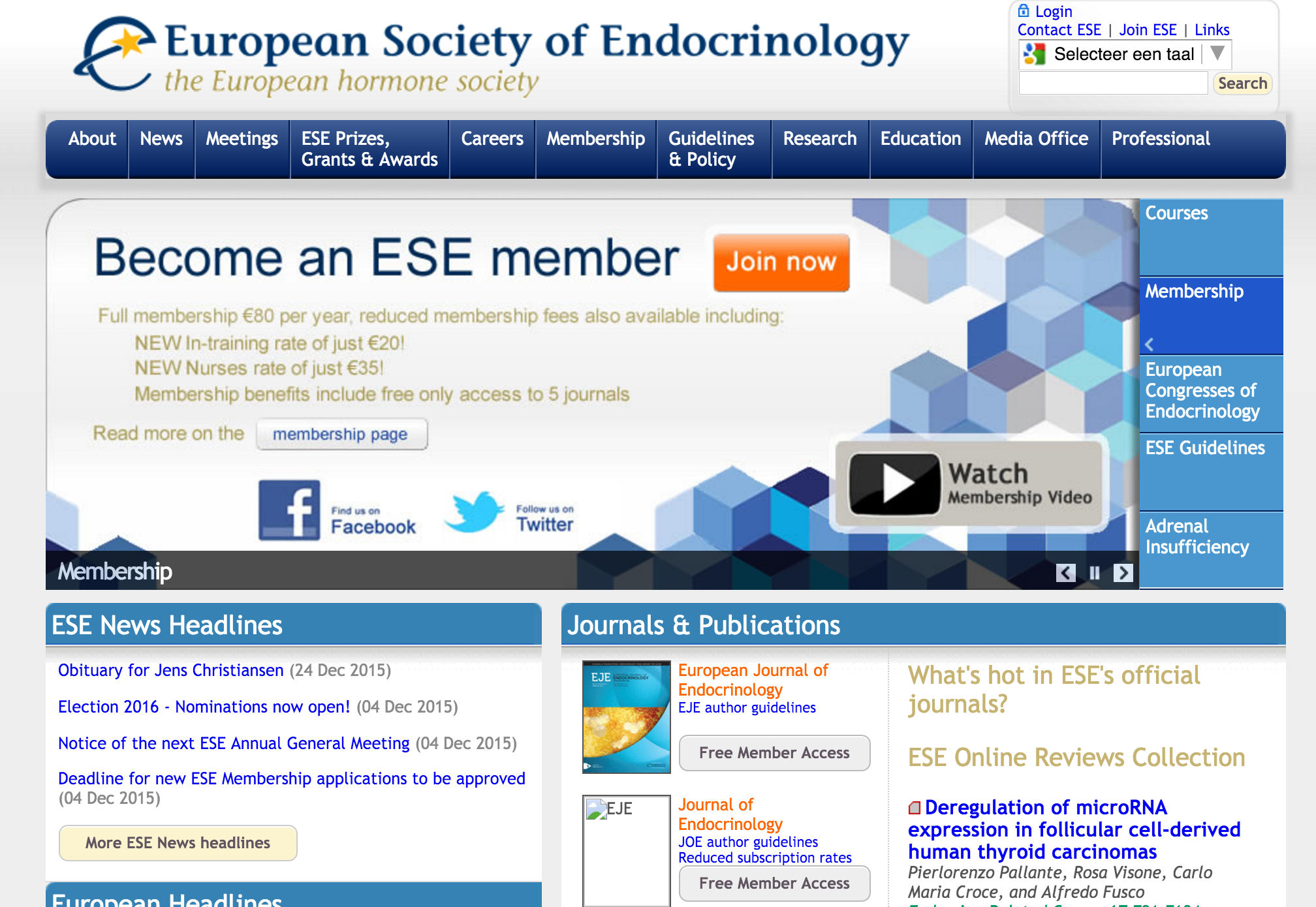 European Society for Endocrinology (ESE)